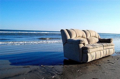 Couch am Strand
